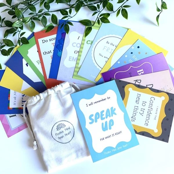 Affirmation Cards: Growing Minds Age 7-12 yrs
