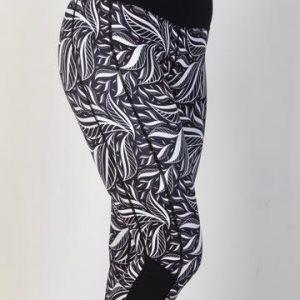 tribal-feather-capris-leggings