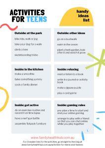 activities for teenagers image