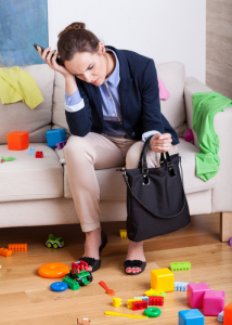 stressed working mum